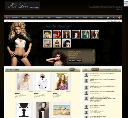 Product picture Sexyromance black Dolphin V7.0 Boonex Templates